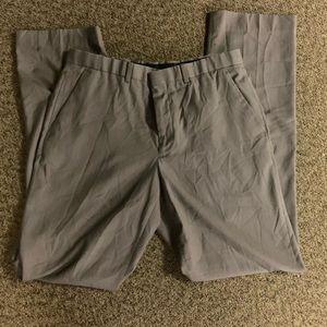 Perry Ellis men's light grey and tan dress pants